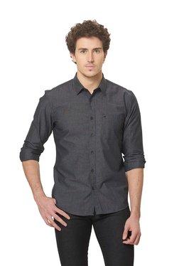 Basics Black Solid Full Sleeves Shirt