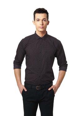Basics Navy Cotton Full Sleeves Shirt