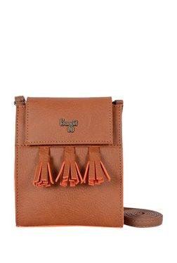 Baggit Lp Newton Y G Zinga Caramel Tan Flap Sling Bag 082ca5199b369