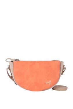 Baggit Lp Von Y G Charles Orange & Off-White Solid Sling Bag