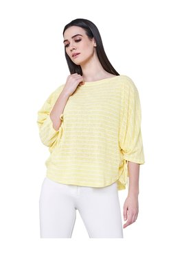 AND Yellow Striped Top