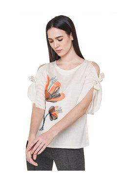 AND Off White Printed Top