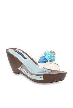 Lishabee By MSC Sky Blue Casual Wedges