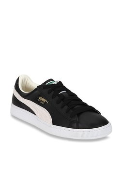 Puma Basket Classic Black & White Sneakers