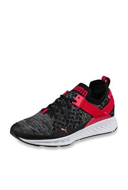 Puma Ignite EvoKNIT Lo Black & Toreador Running Shoes
