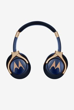 Motorola Pulse 3 Max Over The Ear Headphones (Blue And Gold)