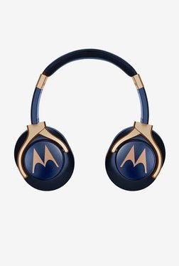 Motorola Pulse 3 Over the Ear Headphones (Blue and Gold)