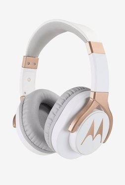 Motorola Pulse 3 Max Over the Ear Headphones (White and Gold)
