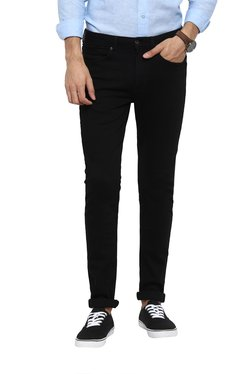 Red Tape Black Skinny Fit Mid Rise Jeans