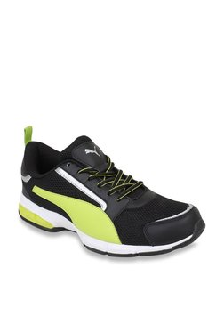Puma Triton IDP Black   Fluorescent Green Running Shoes 6de51f9ec