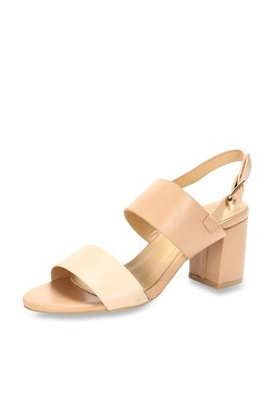 Van Heusen Cream & Nude Back Strap Sandals