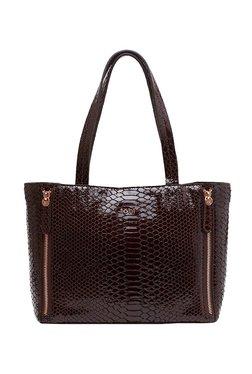 Tohl RP 1 Varick Dark Brown Textured Leather Shoulder Bag
