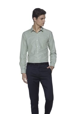 Weststreet By Westside Yellow Easy Care Slim Fit Shirt