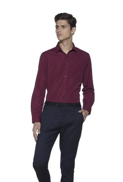 Weststreet By Westside Red Slim Fit Checked Shirt
