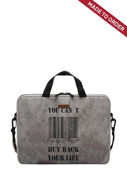 Daily Objects You Cant Buy Back Your Life Grey M Messenger Bag