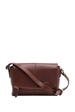 Tohl RP 1 Madison Brown Stitched Leather Flap Sling Bag