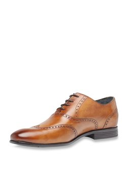 Louis Philippe Tan Brogue Shoes