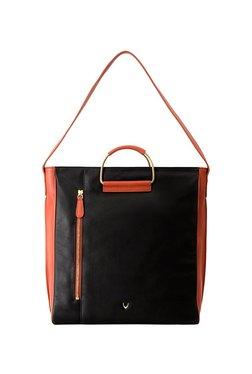 Hidesign Candy 01 Black & Orange Paneled Shoulder Bag