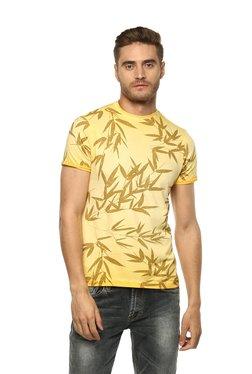 Spykar Yellow Crew Neck T-Shirt
