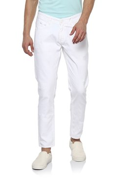 Spykar White Low Rise Super Skinny Fit Jeans