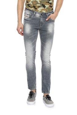 Spykar Grey Low Rise Super Skinny Fit Jeans