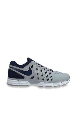 8c3c5fd534c9 Nike Lunar Fingertrap TR Wolf Grey   Navy Training Shoes