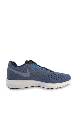 14ff654a45b4 Nike Zoom Winflo 4 Navy   Diffused Blue Training Shoes