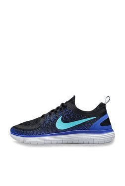 43b2230bfdc Nike Free RN Distance 2 Black   Aurora Green Running Shoes