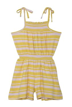 050ae2fcc153 612 League Kids Yellow Striped Playsuit