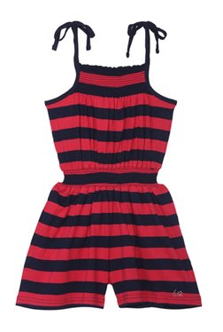 e0b1cb0ab66a 612 League Kids Red   Navy Striped Playsuit