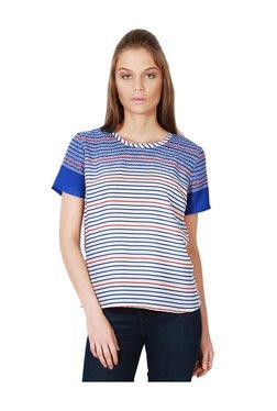 Van Heusen Blue & White Striped Top