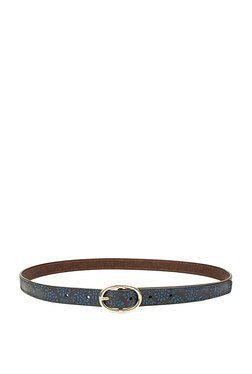 Holii B 02 Blue & Brown Embossed Leather Waist Belt