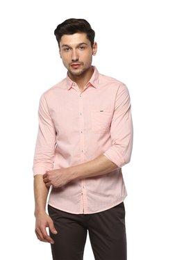 d6d865f5adc Spykar Pink Striped Slim Fit Shirt