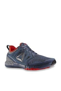 49f1b1b2d Reebok Zprint 3D Navy   Grey Running Shoes