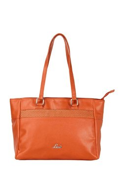 Lavie Daza Orange Cut Work Shoulder Bag