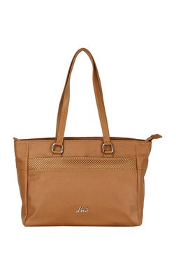 Lavie Daza Tan Cut Work Shoulder Bag