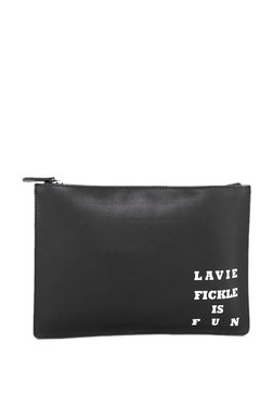 Lavie Baya Docu Black & White Printed Pouch