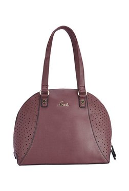 Lavie Bat Wine Cut Work Shoulder Bag