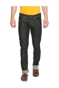 Peter England Grey Skinny Fit Cotton Jeans