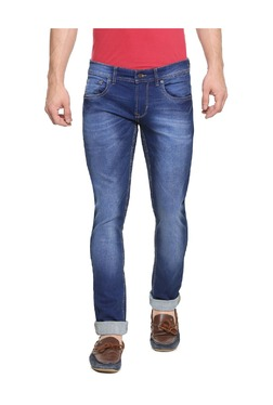 Peter England Blue Skinny Fit Cotton Jeans - Mp000000003196225