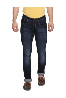 Peter England Blue Skinny Fit Cotton Jeans