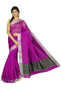 Pavecha's Magenta Cotton Silk Banarasi Saree