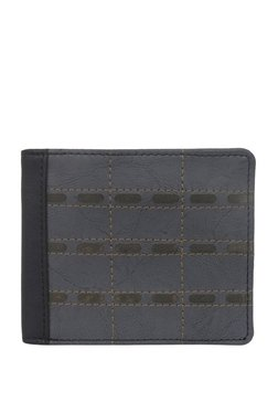 Baggit GW Mike Y G Bindas Dark Grey & Black Bi-Fold Wallet