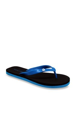 United Colors Of Benetton Royal Blue & Black Flip Flops