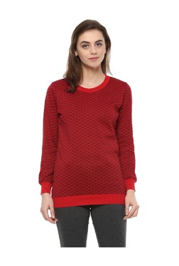 Solly By Allen Solly Red Printed Cotton Top