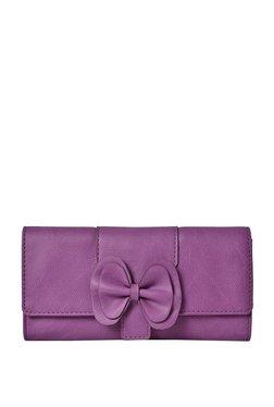 Baggit Lw Lanyard Y G 1 Bindas Purple Tri-Fold Wallet