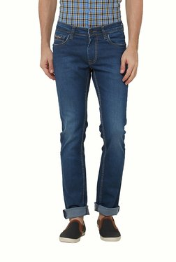 Lawman Blue Lightly Washed Mid Rise Cotton Jeans