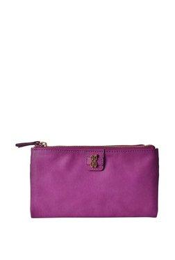 Baggit Lz Hula Y G Outer Purple Solid Bi-Fold Wallet