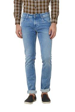 Lawman Light Blue Cotton Slim Fit Mid Rise Jeans