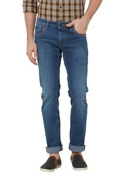 Lawman Light Blue Slim Fit Mid Rise Cotton Jeans